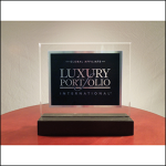 Luxury Portfolio Standing Plaque (small)